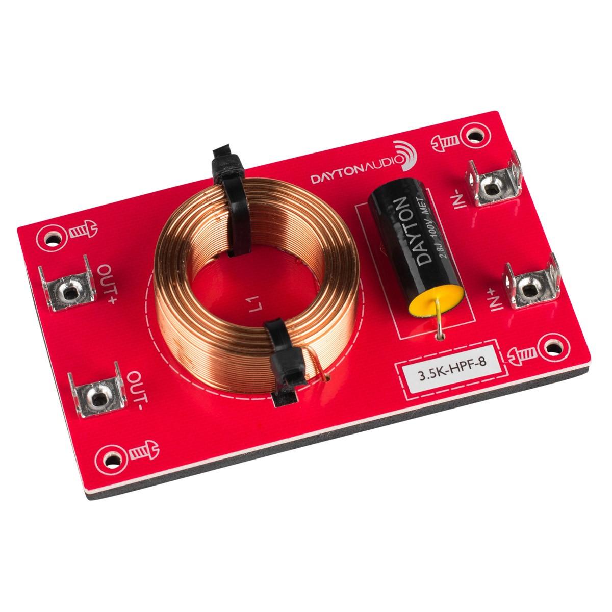 DAYTON AUDIO 3.5K-HPF-8 Speaker High Pass Filter 3500Hz 12dB/Octave 8 Ohm