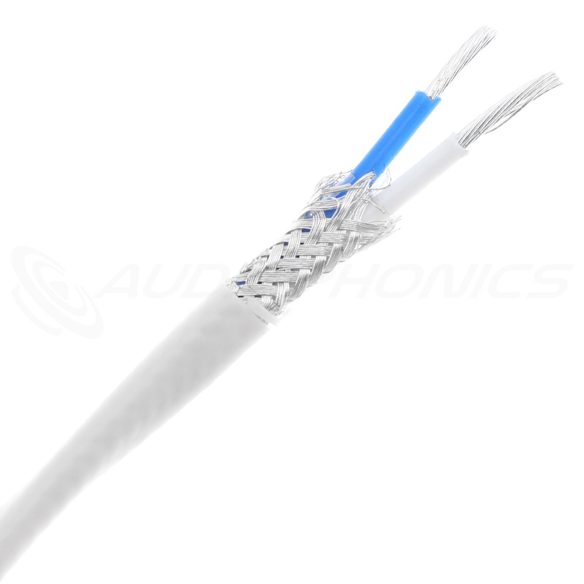 Pur Copper OFC Silver Plated shielded Cable White PTFE Ø3mm