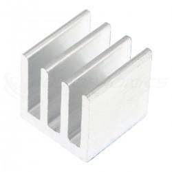 Radiateur Dissipateur Thermique Adhésif Aluminium 10x10x10mm Argent