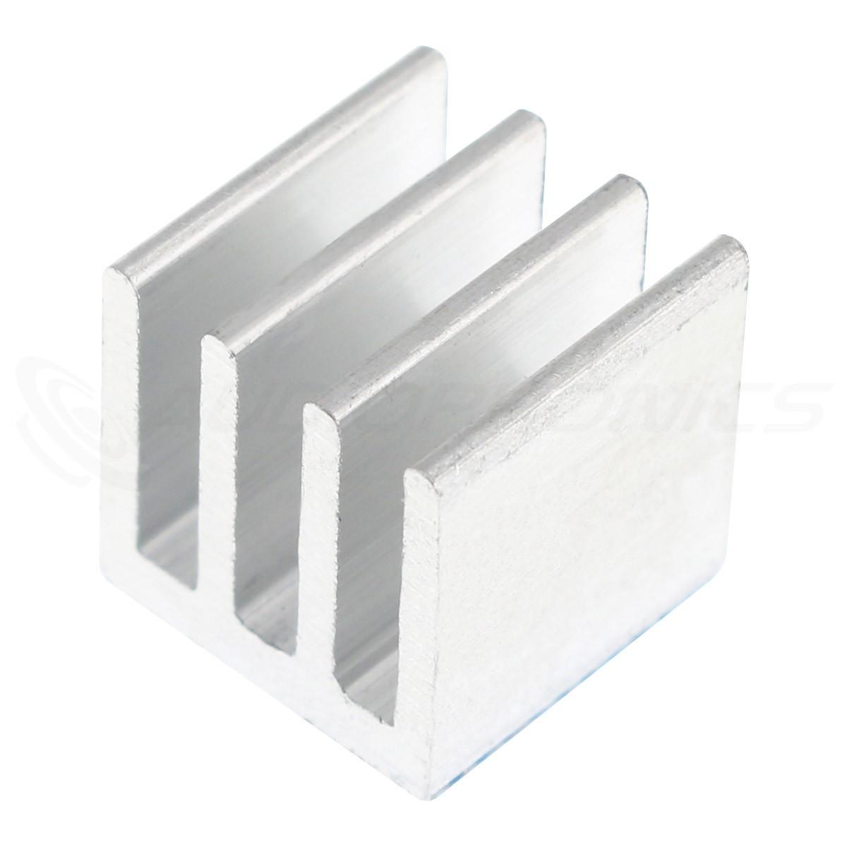 Aluminium Adhesive Heatsink Radiator 10x10x10mm Silver