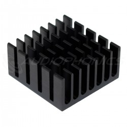 Aluminium Adhesive Heatsink Radiator 20x20x10mm Black