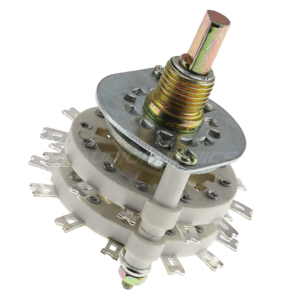 Selector 4 inputs 5 positions Ø6mm flat axis
