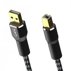 MATRIX Câble USB-A Mâle vers USB-B Mâle Cuivre OFC Plaqué Argent / Or 1.2m