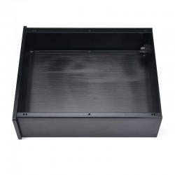 Boitier Aluminium façade Argent DIY 100% 260x249x90mm façade noire