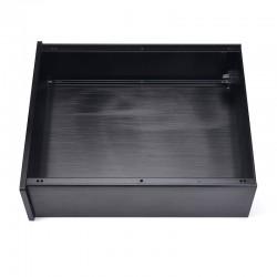 DIY Box / Case Silver face 100% Aluminium 260x249x90mm Black pannel
