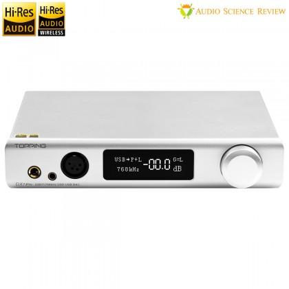 TOPPING DX7 PRO DAC Amplificateur Casque Symétrique ES9038Pro Bluetooth 5.0 aptX HD LDAC 32bit 768kHz DSD1024 Argent