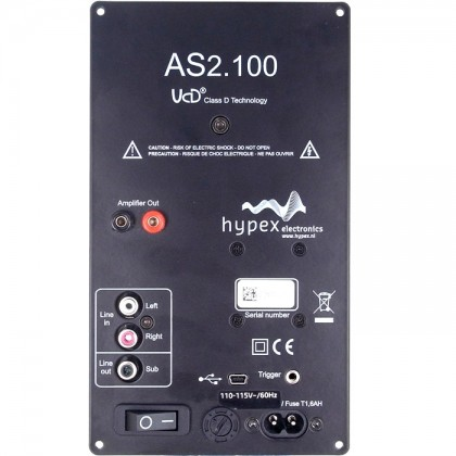 Module Amplificateur HYPEX AS2.100D Filtrage DSP - 2x100W + LFE