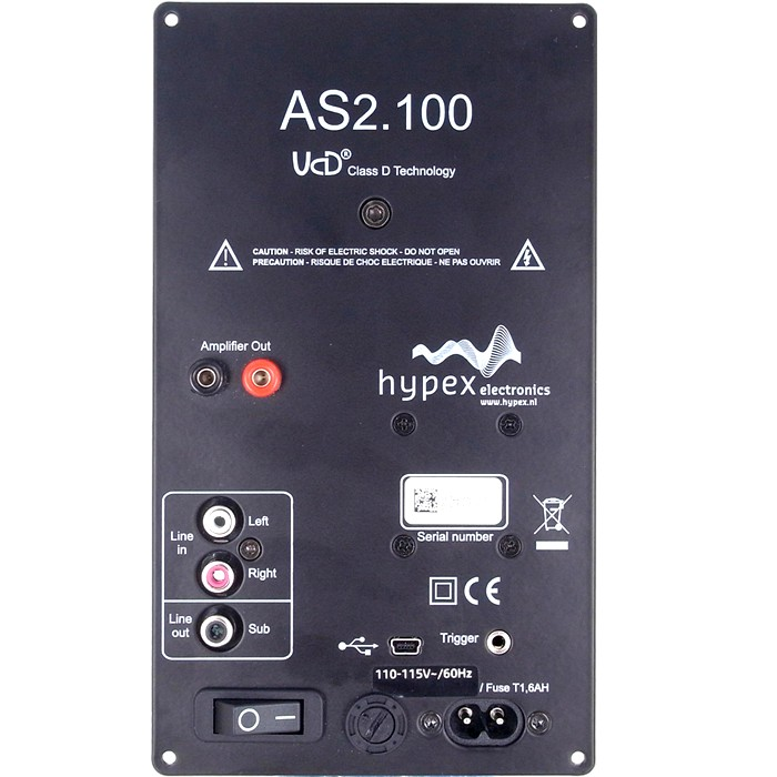 HYPEX AS2.100D Module Amplificateur Filtrage DSP - 2x100W + LFE