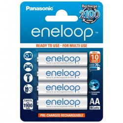 PANASONIC ENELOOP Accumulateurs NiMh AA 1.2V 1900mAh (Set x4)