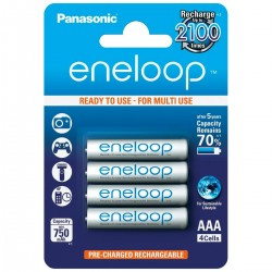 PANASONIC ENELOOP Accumulateurs NiMh AAA 1.2V 750mAh (Set x4)