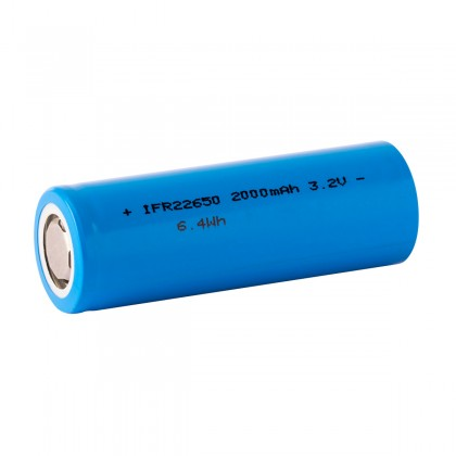 Rechargeable Battery IFR22650 LiFePO4 3.2-3.3V 2000mAh