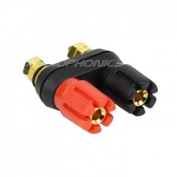 Double Insulated Gold Plated Speaker Terminals with Holding Plate 5mm