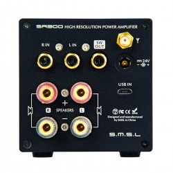 SMSL SA300 Class D Amplifier USB Bluetooth 5.0 aptX Subwoofer MA12070 2x40W 8Ω 32bit 384kHz
