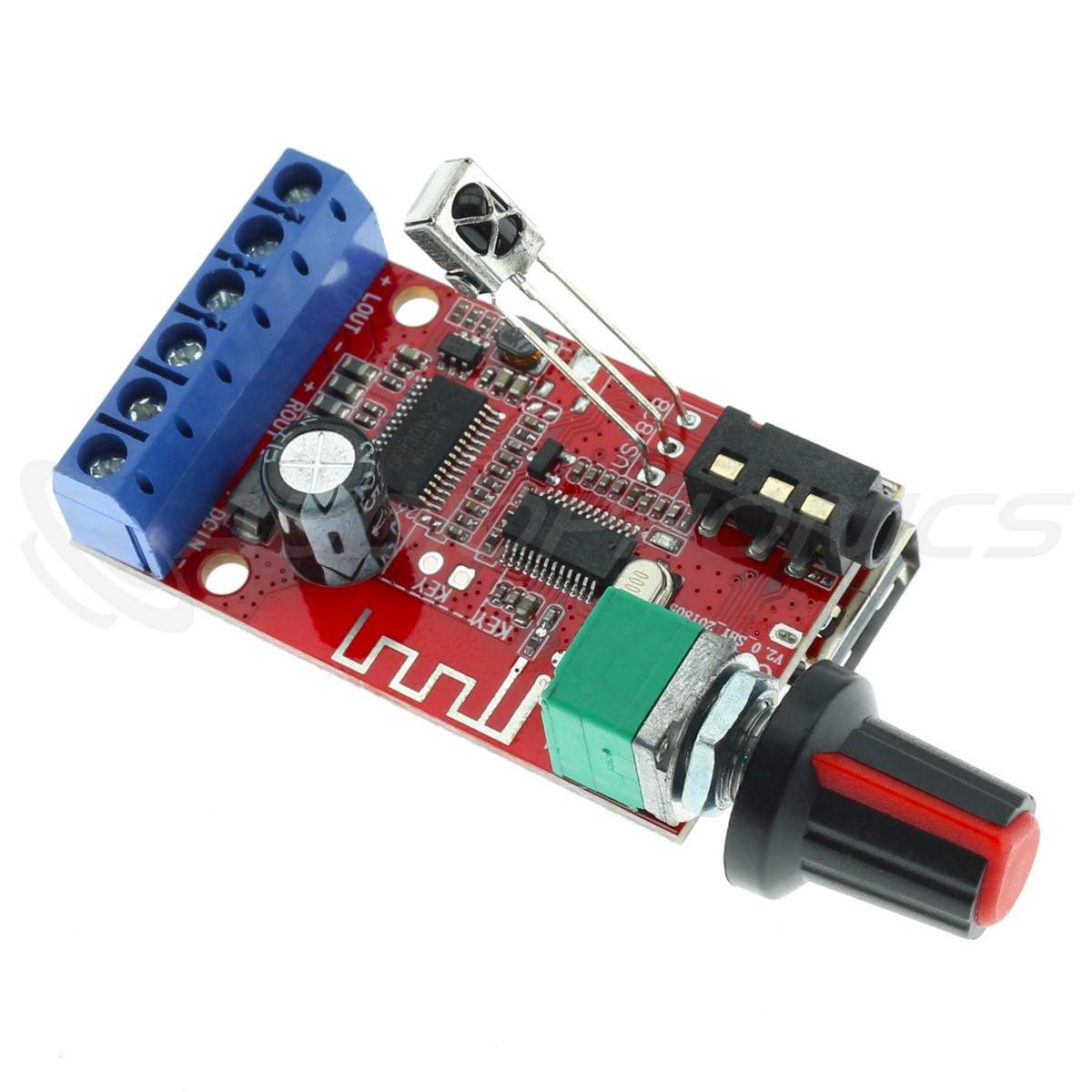 Class D Stereo Amplifier Module Bluetooth 4.2 USB Player 2x15W 8 Ohm