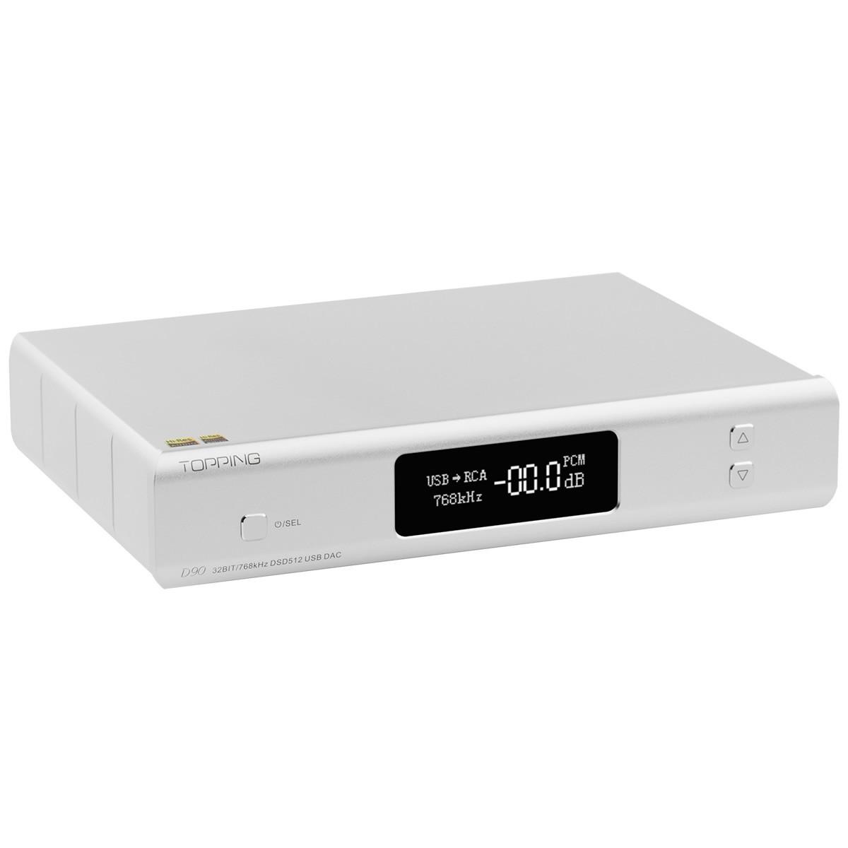 TOPPING D90 Balanced DAC AK4499 XMOS XU208 I2S 32bit 768kHz DSD512 Bluetooth 5.0 Silver