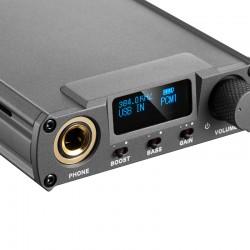 XDUOO XD-05 PLUS Amplificateur Casque Portable sur Batterie AK4493EQ XMOS 32bit 384kHz DSD256 Noir