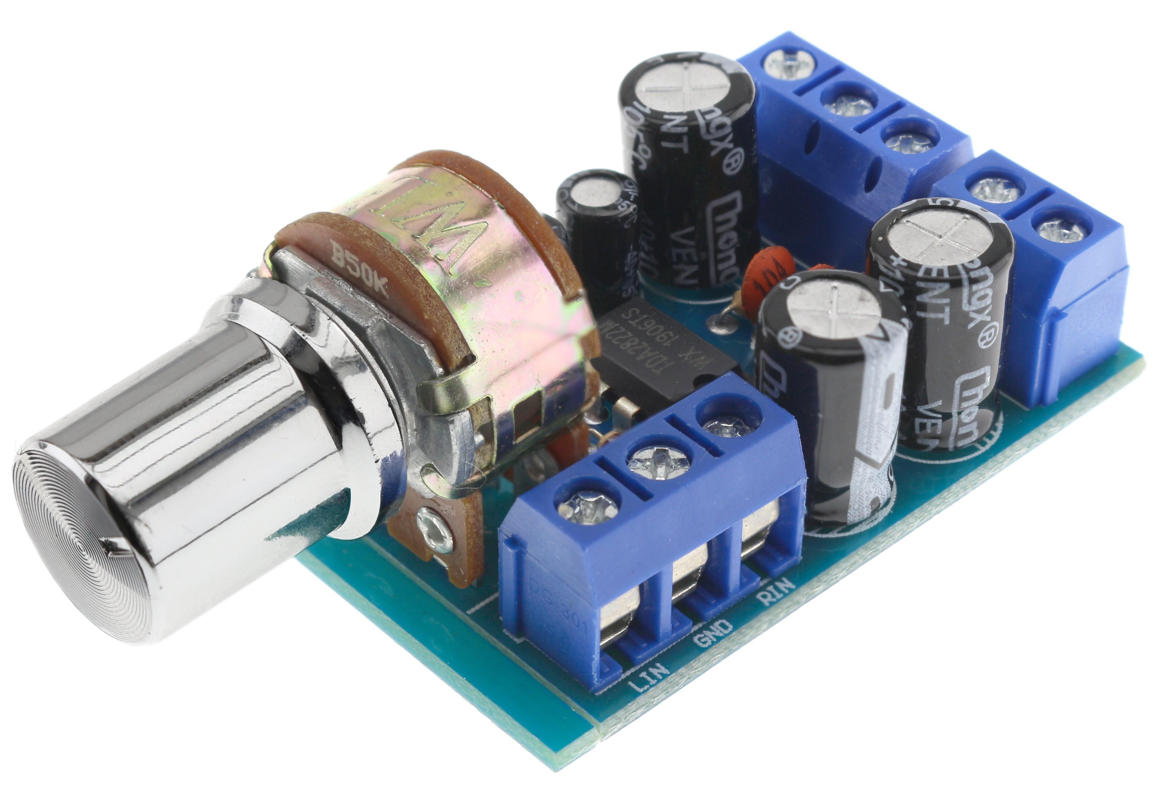 Module amplificateur Stéréo TDA2822M avec contrôle de volume 2x1W