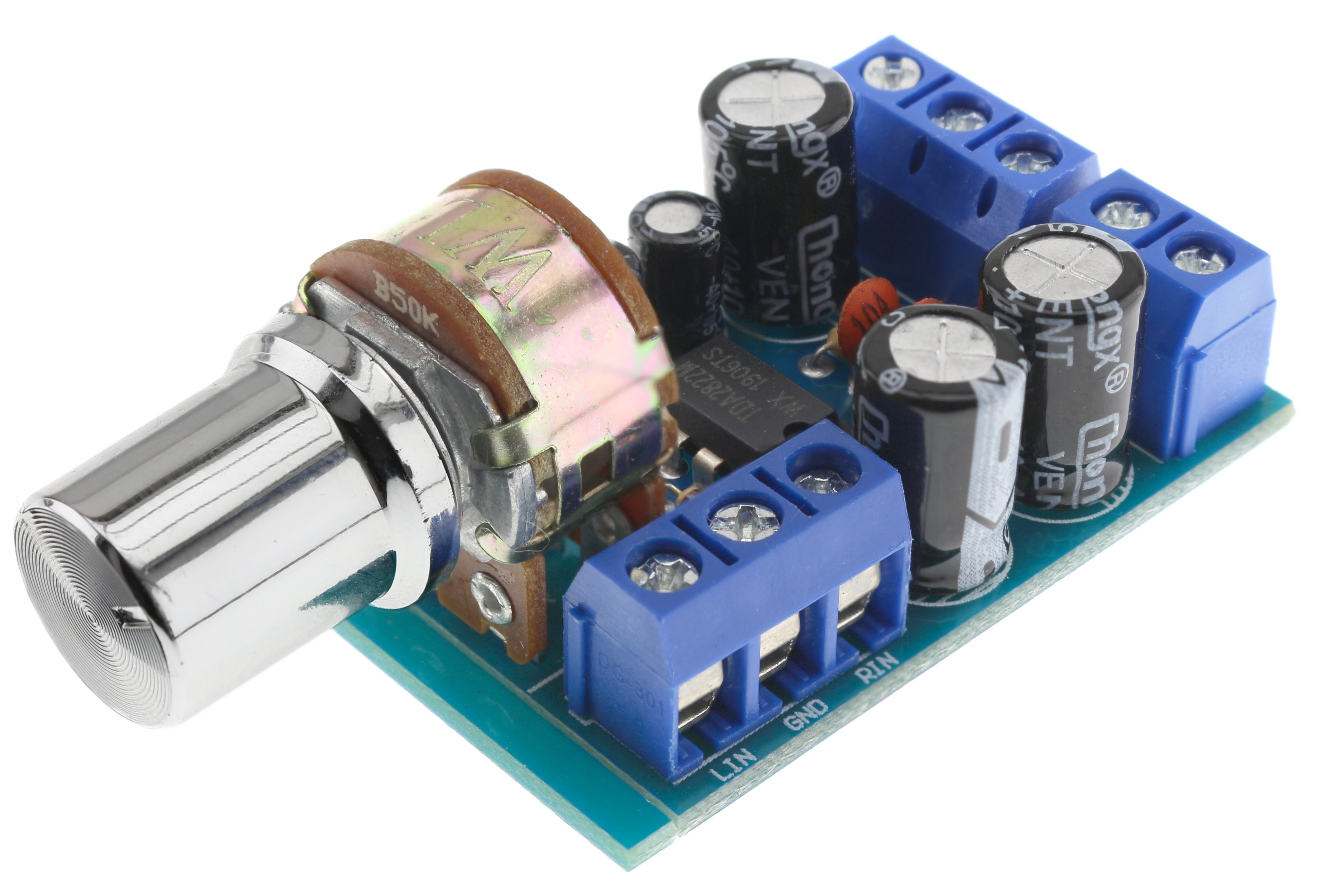 Stereo TDA2822M Amplifier module with volume control 2x1W