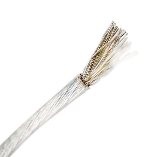 Fil de Cuivre OFC Haute pureté Plaquage Argent Gaine PTFE 0.5mm² Ø1.4mm