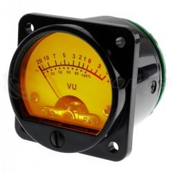 Vumétre Rond rétroéclairage jaune dB Ø45mm (La paire)
