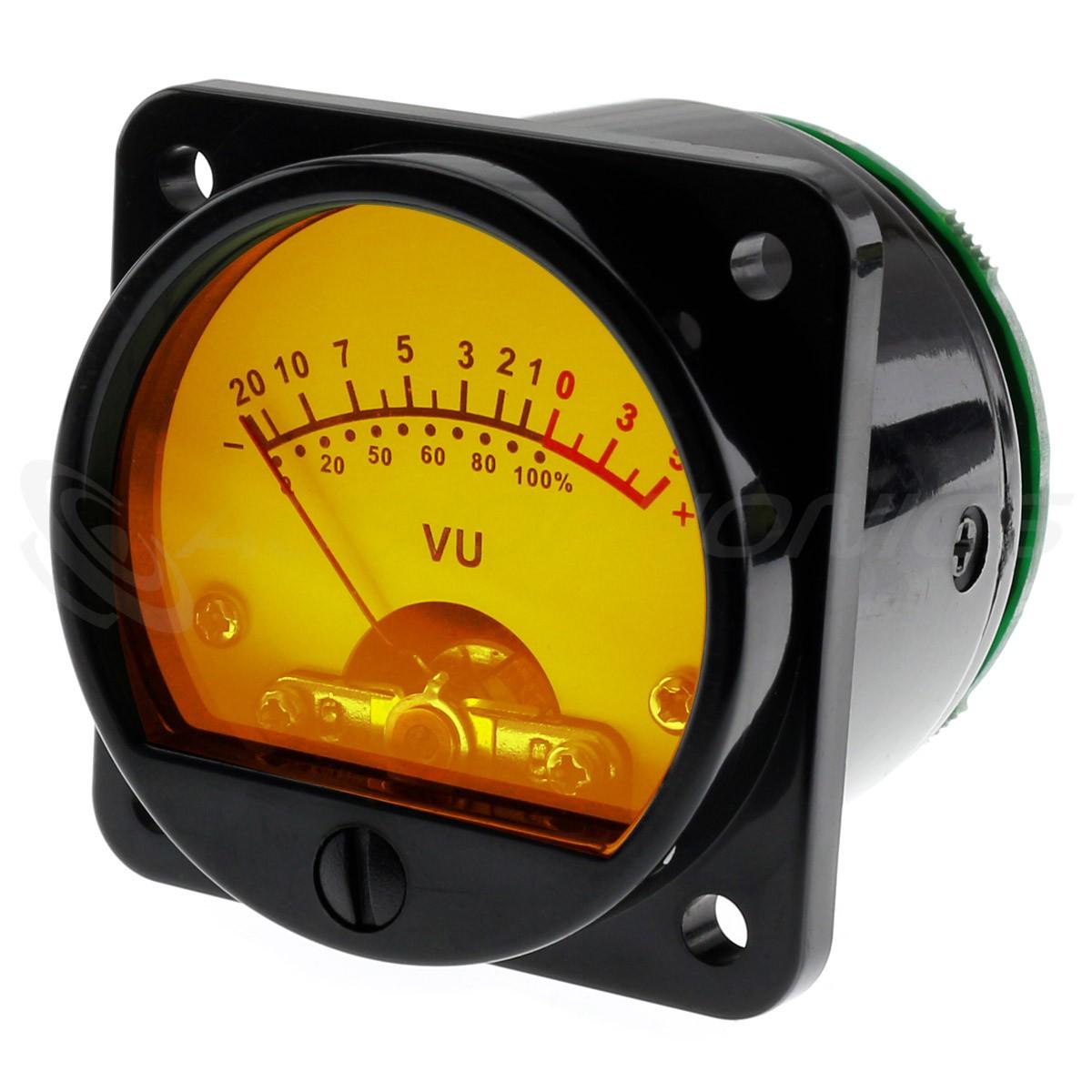Round Vumeter Yellow Backlight dB Ø45mm (Pair)