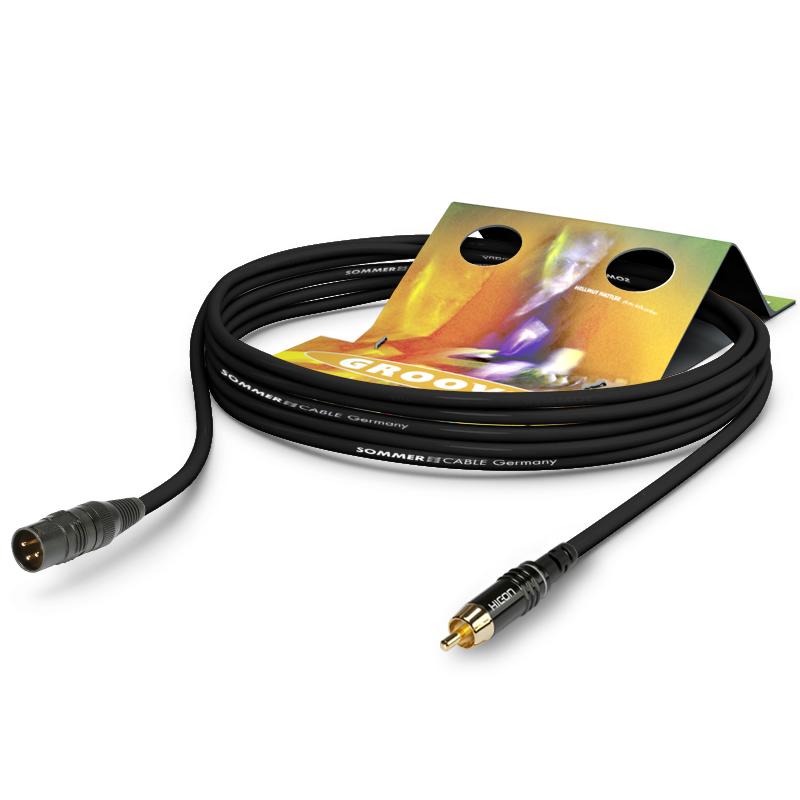 HICON Tricone MKII - Cable XLR-3 Male / RCA Male 0.25m (Unit)