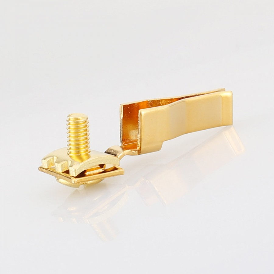 VF523G Top Clear C19 Gold Plat Pure Copper 20A Power Gold Plated Audio Power IEC Connector Plug 20A IEC 20A C19