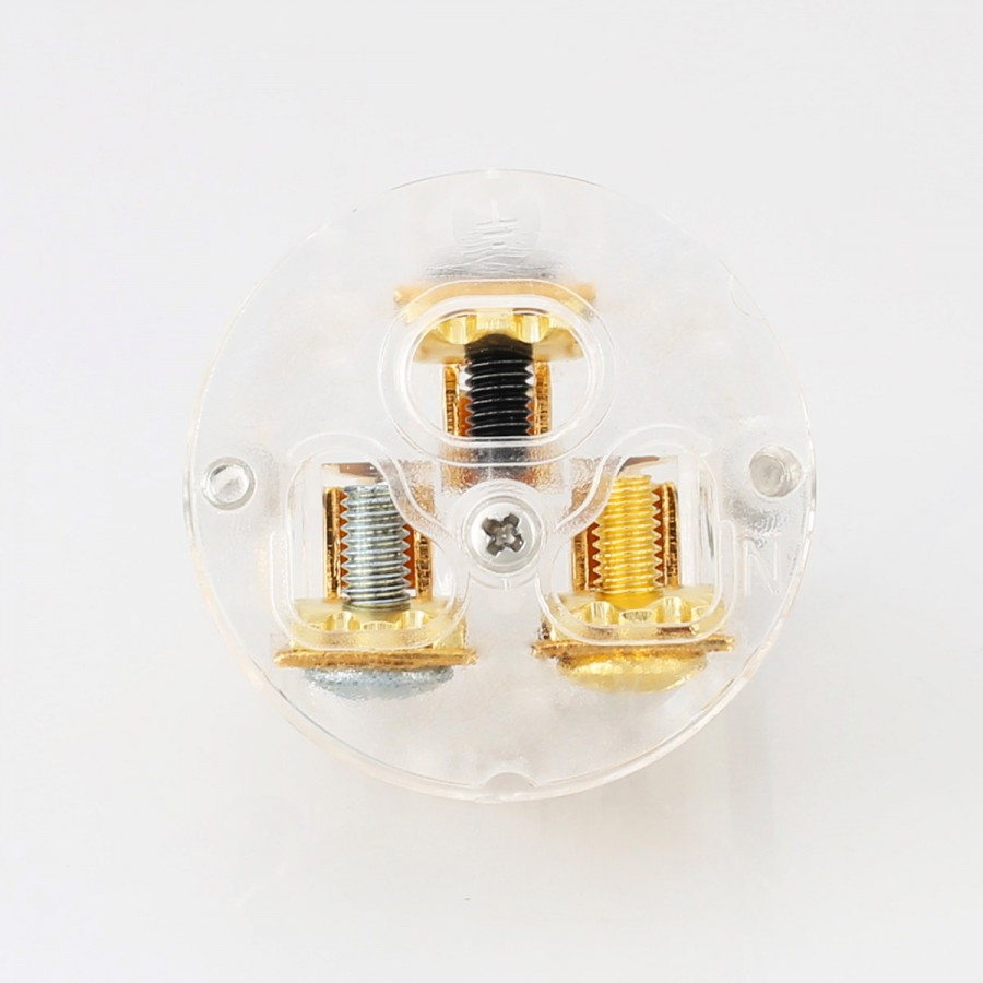 VIBORG VF503G IEC C15 Connector Pure Copper Plated Silver ...