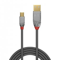 LINDY CROMO LINE Male USB-A to Male Mini USB-B 2.0 Cable Gold Plated 2m