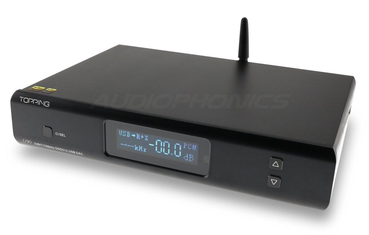 TOPPING D90 Balanced DAC AK4499 XMOS XU208 I2S 32bit 768kHz DSD512 Bluetooth 5.0 Black