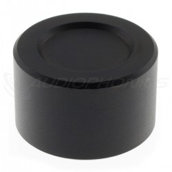 Aluminium Button D Shaft 25mm Ø6mm Black