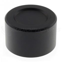 Bouton Aluminium Axe Méplat 25mm Ø6mm Noir
