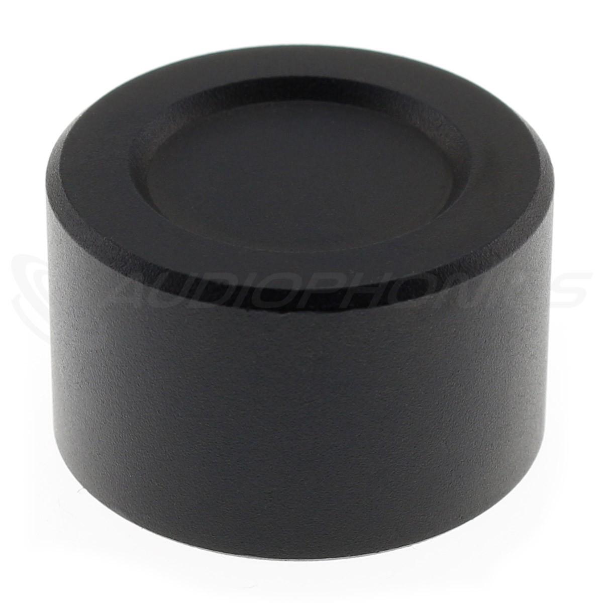 Aluminium Button D Shaft 25mm Ø6mm Black