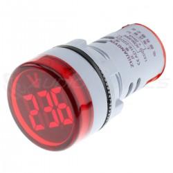 Afficheur de Voltage voltmètre à LED Rouge 60 / 500V
