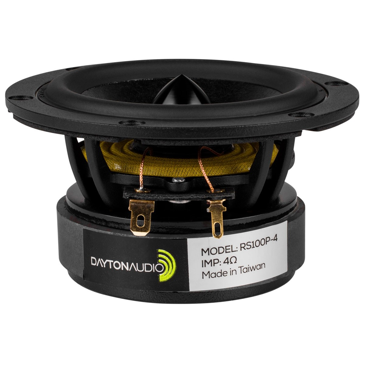 DAYTON AUDIO RS100P-4 Reference Speaker Driver Woofer 30W 4 Ohm 88dB 85Hz - 13500Hz Ø10.2cm