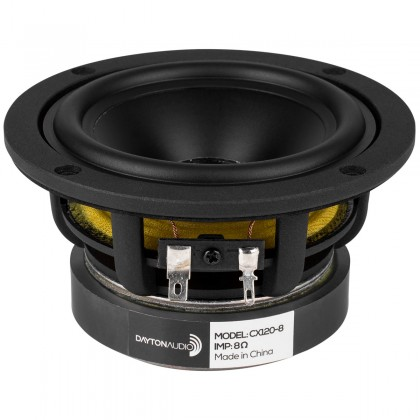 DAYTON AUDIO CX120-8 Speaker Driver Coaxial Woofer with Silk Dome Tweeter 40W 8 Ohm 88dB 90Hz - 20000Hz Ø10.2cm