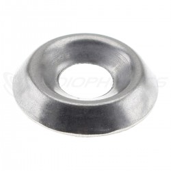 Hollow Washer Cup Stainless Steel M5x15x3mm Silver (x10)