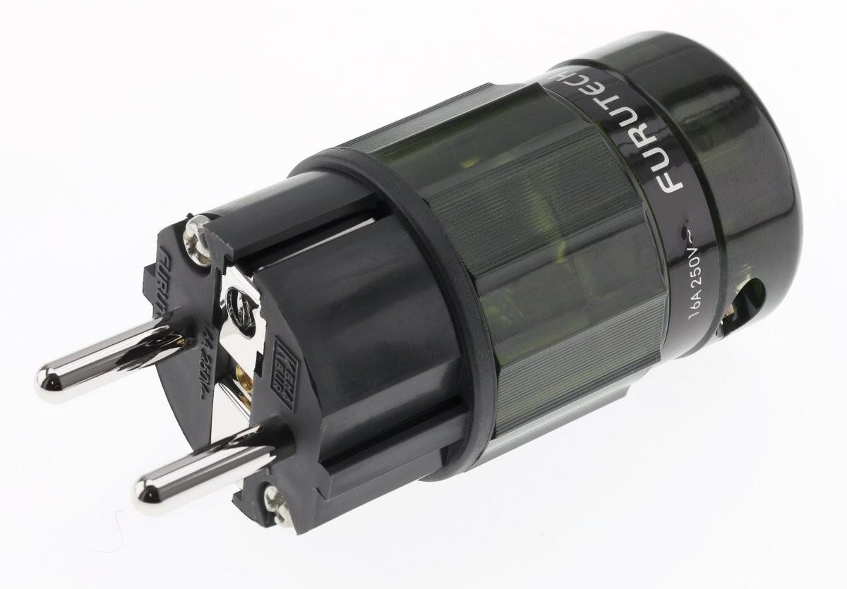 FURUTECH FI-E38 (R) Connecteur Schuko plaqué Rhodium Ø17.5mm