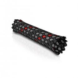 VIABLUE RACE Gaine Tressée 6-14mm Noir Rouge Gris