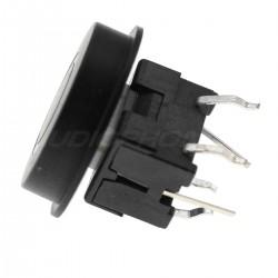Bouton 13x10mm Noir avec Cercle Lumineux LED