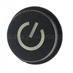 Bouton Poussoir 15x10mm Noir avec Symbole Lumineux LED Blanche