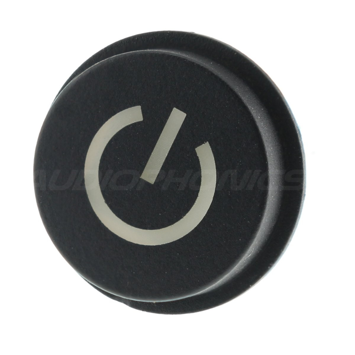 Push Button with Power Symbol white light 1NO 12V 50mA Ø15mm Black