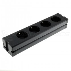 DIY Aluminum 4 ports Schuko Power Strip Black