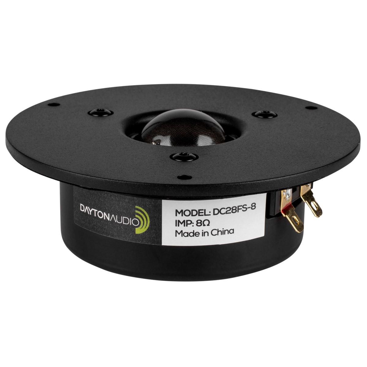DAYTON AUDIO DC28FS-8 Speaker Driver Dome Tweeter 50W 8 Ohm 89dB 1600Hz - 20kHz Ø2.9cm