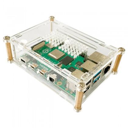 Boîtier Acrylique pour Raspberry Pi 4 Transparent