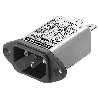 SCHAFFNER FN9222 Filtre Secteur IEC Anti-Parasites/EMI 230V 1A