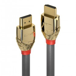 LINDY GOLD LINE Câble HDMI 2.0 High Speed Cuivre OFC Plaqué Or Triple Blindage 24k 2m
