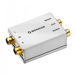 MONACOR Stereo to Dual Mono Adapter Converter RCA