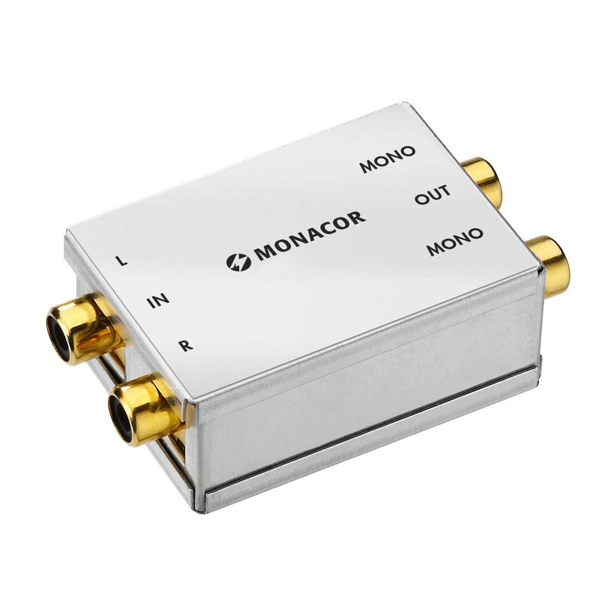 MONACOR Stereo to Dual Mono Converter RCA