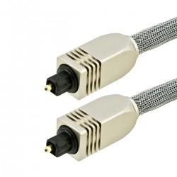 Câble Optique Toslink SPDIF Connecteurs Métal 22m